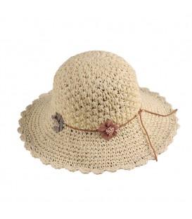 "Sombrero pamela ""puntos"""