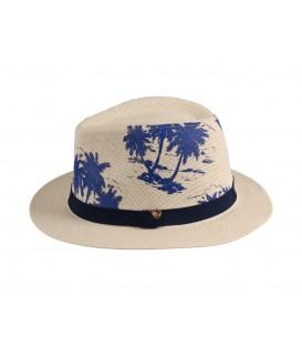 """Sombrero Panama con dibujo """"Pamela"""""""