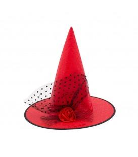 Sombrero Bruja Plastificado con Lazo