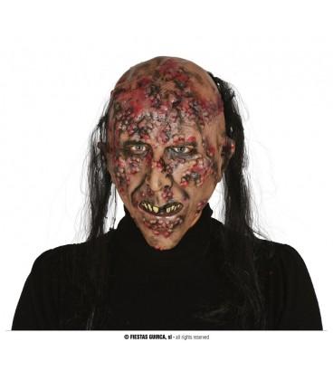 Mascara Zombie Infectado con Pelo Latex