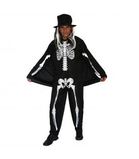Disfraz Esqueleto Sombrero