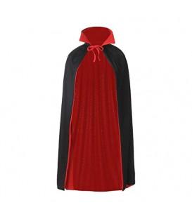 Capa dos colores Rojo/Negro con cuello