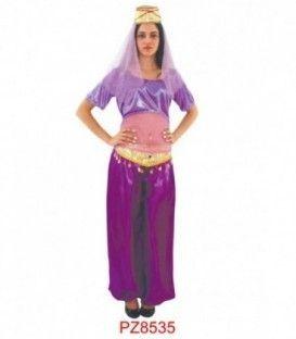 Disfraz Reina Árabe Lila Mujer - Adulto