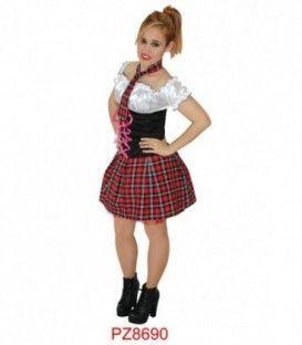 Disfraz Rockera /Colegiala Mujer - Adulto
