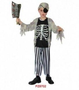 Disfraz Esqueleto Pirata  - Niños