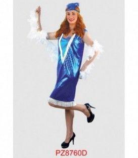 Disfraz Charleston Azul - Adulto