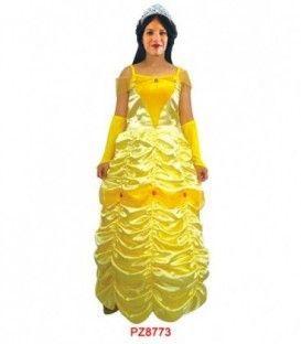 Disfraz Princesa Amarilla - Adulto