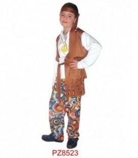 DISFRACES HIPPIE MARRON NIÑOS PZ8523