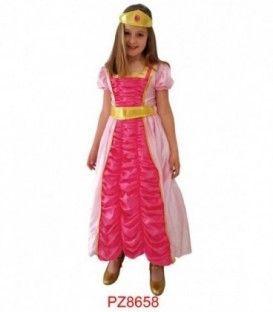 Disfraz Princesa Rosa Niña