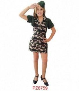Disfraz Soldado- Niña