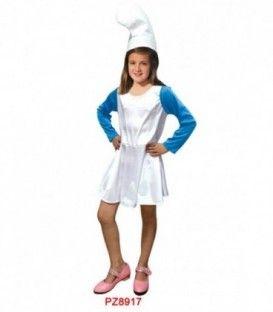 Disfraz Enana Azul - Niña