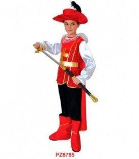 Disfraz Mosquetero Rojo - Niño