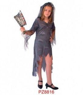 Disfraz Novia Cadaver - Niña