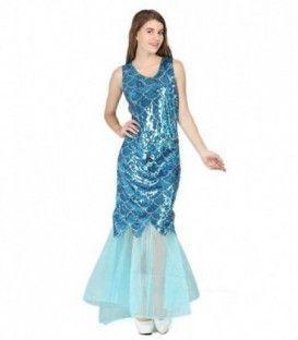 Vestido sirena azul