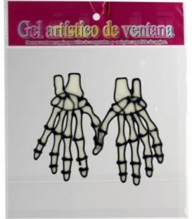 Pegatina Ventana Manos De Esqueleto