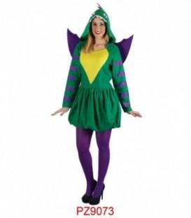 Disfraz Dragón Verde - Mujer