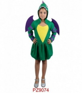 Disfraz Dragón Verde Infantil (Niña)