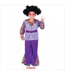 Disfraz niña hippie lila