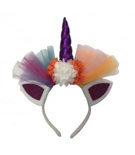 Diadema Unicornio Con Flores Y Tutu