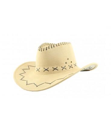 Sombrero Vaquero Marrón Claro (Adulto)
