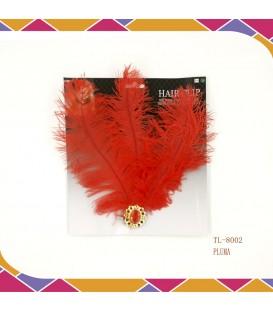 Pinza Pluma Rojo