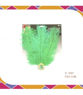 Pinza Pluma Verde