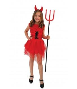 Disfraz Diablesa Roja - Niña