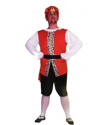 Disfraz Rey Medieval- Hombre