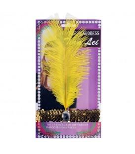 Cinta Pelo Charleston lentejuela con Pluma