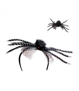 Diadema Araña con Hilo Plata