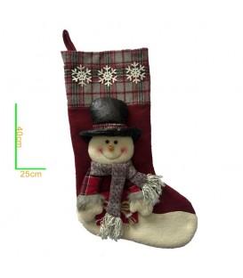 Bota Navidad Nieve con Figura 3d