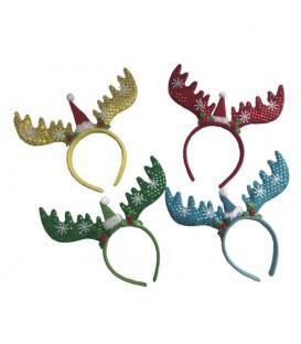Diadema Navidad Reno de Colores