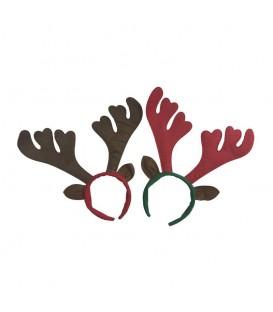 Diadema Navidad Reno Rojo/Marrón